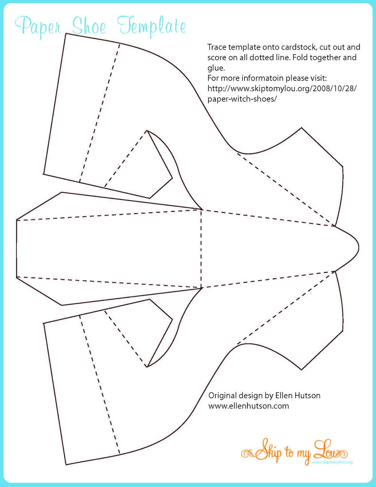 Caixa em forma de sapato com molde dia das m es for High heel shoe template craft
