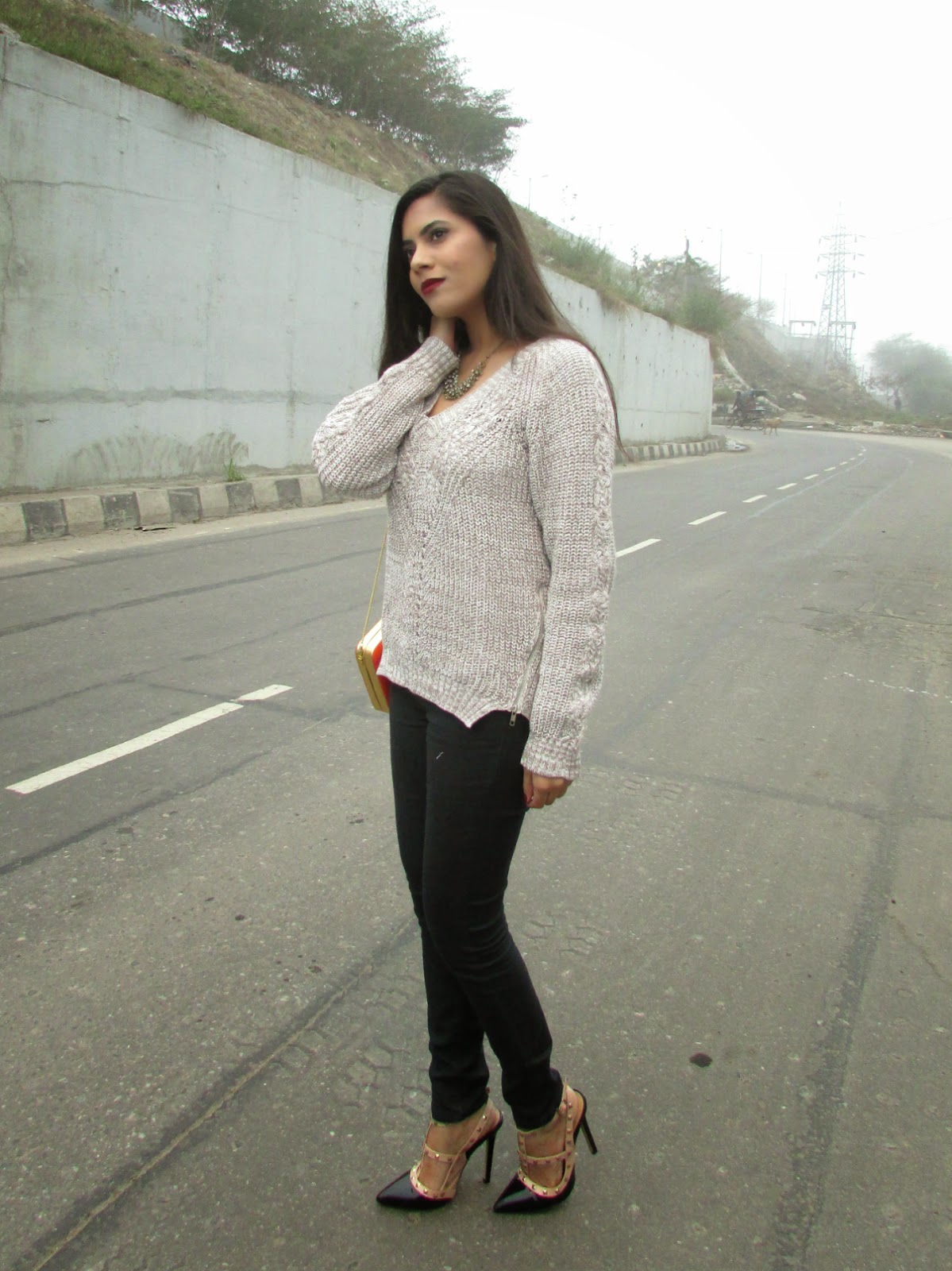 Long Sleeves Zipper Side Slit Knitwear, heavy knit sweater, pullover, warm pullover, winter trends 2015, how to style heavy sweater, india winter trends,peplu, floral , floral peplum , floral peplum top , frock top , peplum top with floral print, peplum floral , sweat heart neck line top , distressed,distressedjeans, distressedboyfriendjeans,boyfrien,boyfriendjeans,boyfriendjeanswithcutout,ripped,rippejeans, fashion , chcnova,ootd,chicnovareview , distressedjeans chicnova,rippedboyfriendjeans,distressedpants,howtostylerippedjeans,howtostyleboyfriendjeans,howtostylebaggyjeans,crochet , lace , summer, white , crochet top , lace top , white lace top , white crochet top , net , net top , white net top,Statement necklace, necklace, statement necklaces, big necklace, heavy necklaces , gold necklace, silver necklace, silver statement necklace, gold statement necklace, studded statement necklace , studded necklace, stone studded necklace, stone necklace, stove studded statement necklace, stone statement necklace, stone studded gold statement necklace, stone studded silver statement necklace, black stone necklace, black stone studded statement necklace, black stone necklace, black stone statement necklace, neon statement necklace, neon stone statement necklace, black and silver necklace, black and gold necklace, blank and silver statement necklace, black and gold statement necklace, silver jewellery, gold jewellery, stove jewellery, stone studded jewellery, imitation jewellery, artificial jewellery, junk jewellery, cheap jewellery ,chicnova Statement necklace, chicnova necklace, chicnova statement necklaces,chicnova big necklace, chicnova  heavy necklaces , chicnova gold necklace, chicnova silver necklace,  chicnova  statement necklace,chicnova  gold statement necklace,chicnova studded statement necklace , chicnova studded necklace, chicnova stone studded necklace, chicnova stone necklace, chicnova stove studded statement necklace, chicnova stone statement necklace, chicnova