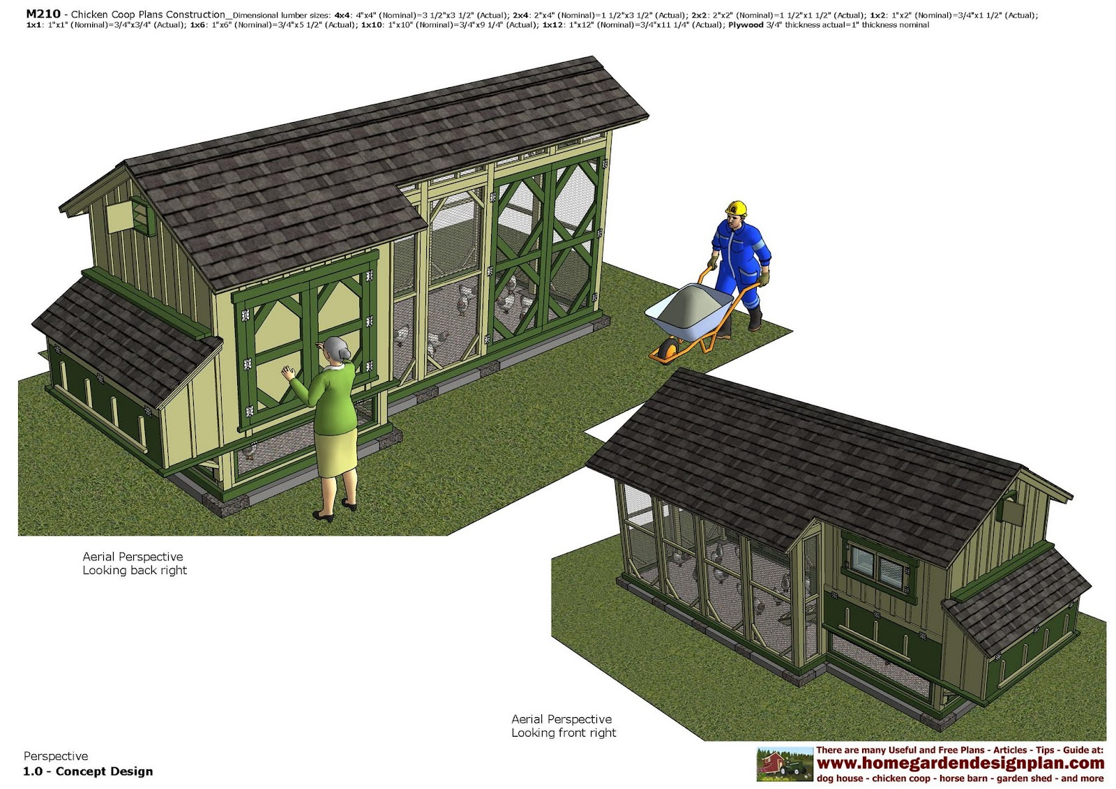 M210 - Chicken Coop Plans Construction - How To Build A Chicken Coop