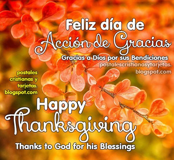 Feliz Dia De Accion De Gracia >> Imagen Feliz Día de Acción de Gracias. Happy Thanksgiving 2018 | Postales Cristianas y Tarjetas