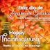 Imagen Feliz Día de Acción de Gracias. Happy Thanksgiving