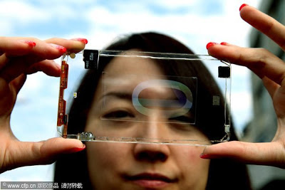 first transparent smartphone
