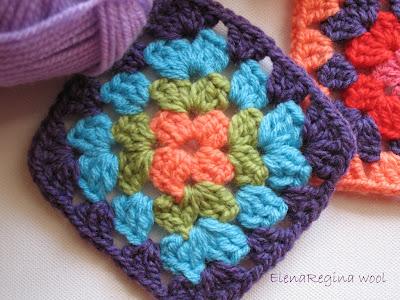 Elenaregina wool la mia coperta del cuore - Coperta uncinetto piastrelle ...