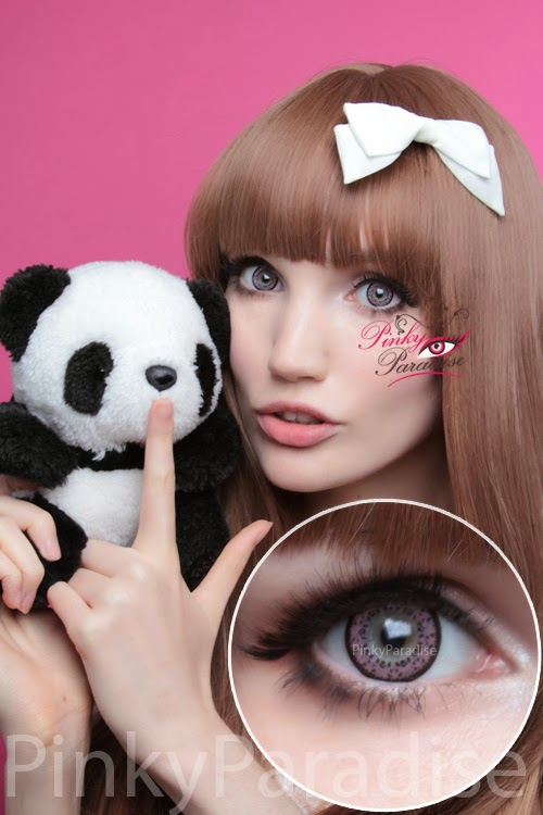 Baby Panda Pink Cosmetic Contacts