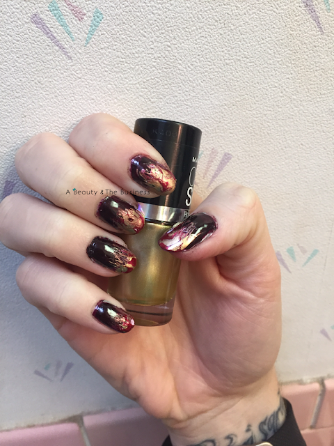 twinsie Tuesday, twinsie tuesday blog hop, twinsie tuesday nail art, Twinsie Tuesday vampy nails, twinsie Tuesday inspired by fictional characater, nail art, flames nail art, abeautyandthebusiness,