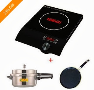 Kailash Induction Cooktop Gen X + 3ltr Induction Base Cooker + 3mm Non Stick Tawa Induction Base worth Rs.4530 for Rs.3141 Only