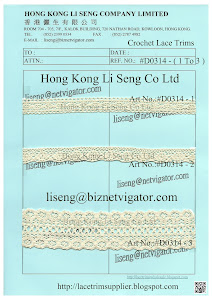 Crochet Lace Trims Manufacturer - Hong Kong Li Seng Co Ltd