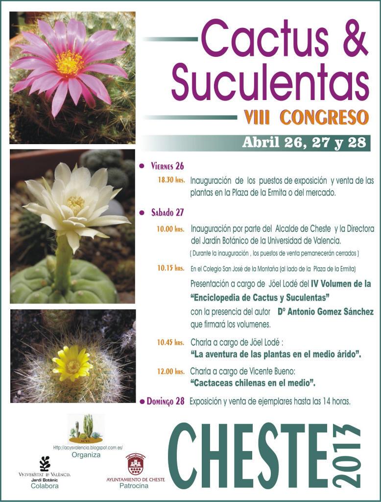 Viveros vangarden viii congreso de cactus y suculentas - Informacion sobre los cactus ...