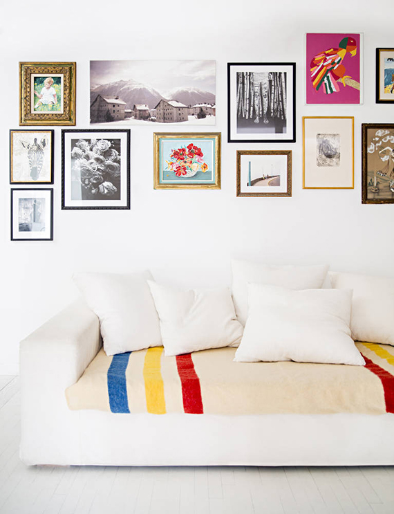 Gallery wall | Photo by Brittany Ambridge via Domino