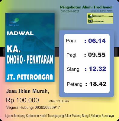 Stasiun Peterongan | Jadwal Kereta Api Rapih Dhoho - Penataran dari ...