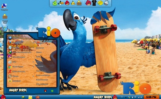 Angry birds theme for Windows 71 Angry Birds Skin Pack Untuk Windows 7