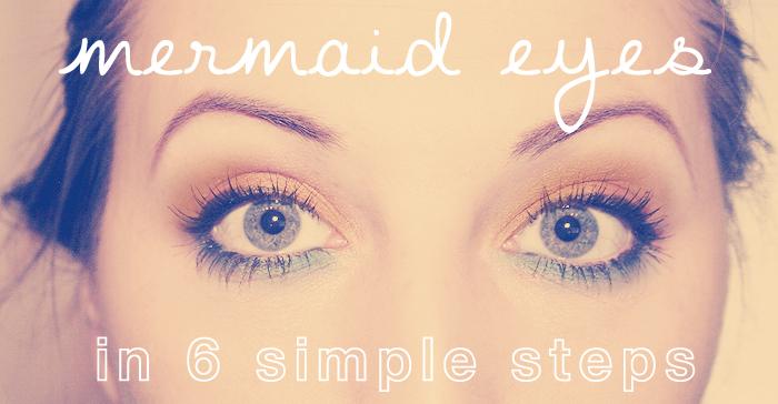 Mermaid Eyes?! 6 Step Makeup Tutorial!