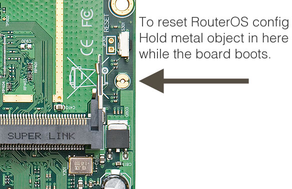 Tombol ResetHole - cara reset mikrotik powerpc RB1100
