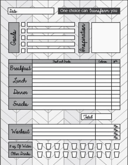 Smart image inside weight watchers food tracker printable