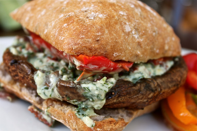 portabella up close and personal portabella mushroom burger with ...