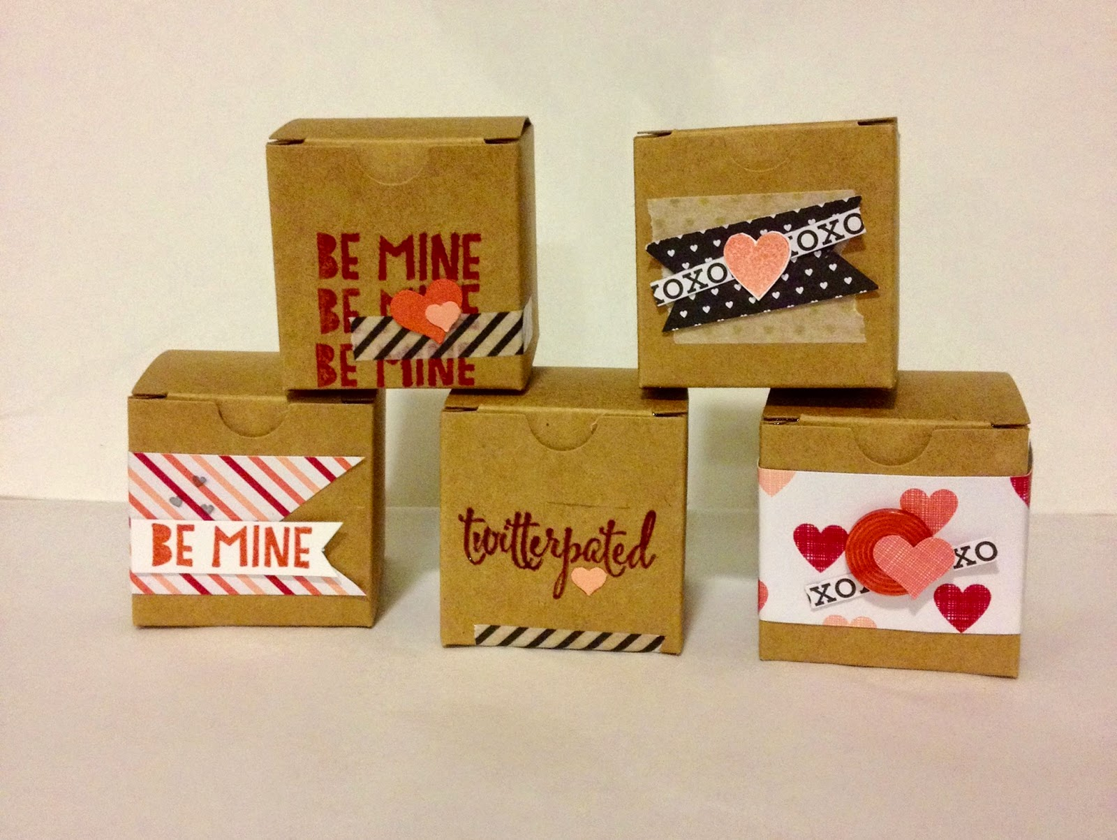 Valentines Boxes Party Favor Countdown Class Treat Gift MidnightCrafting
