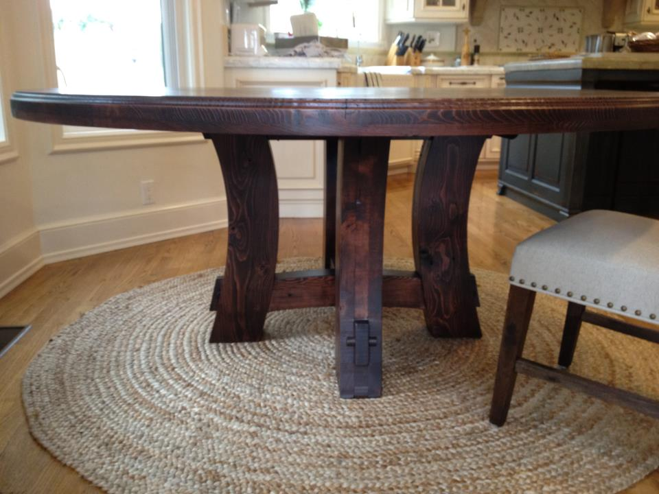 carruthers 70 round custom table farmhouse table company