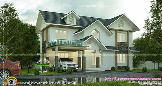 Sloped roof house modern
