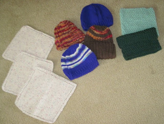 hats, washcloths for homeless