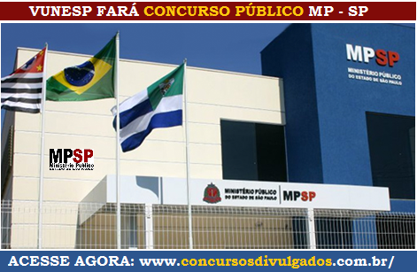 MP de SP fará Concurso para 41 vagas na Grande São Paulo