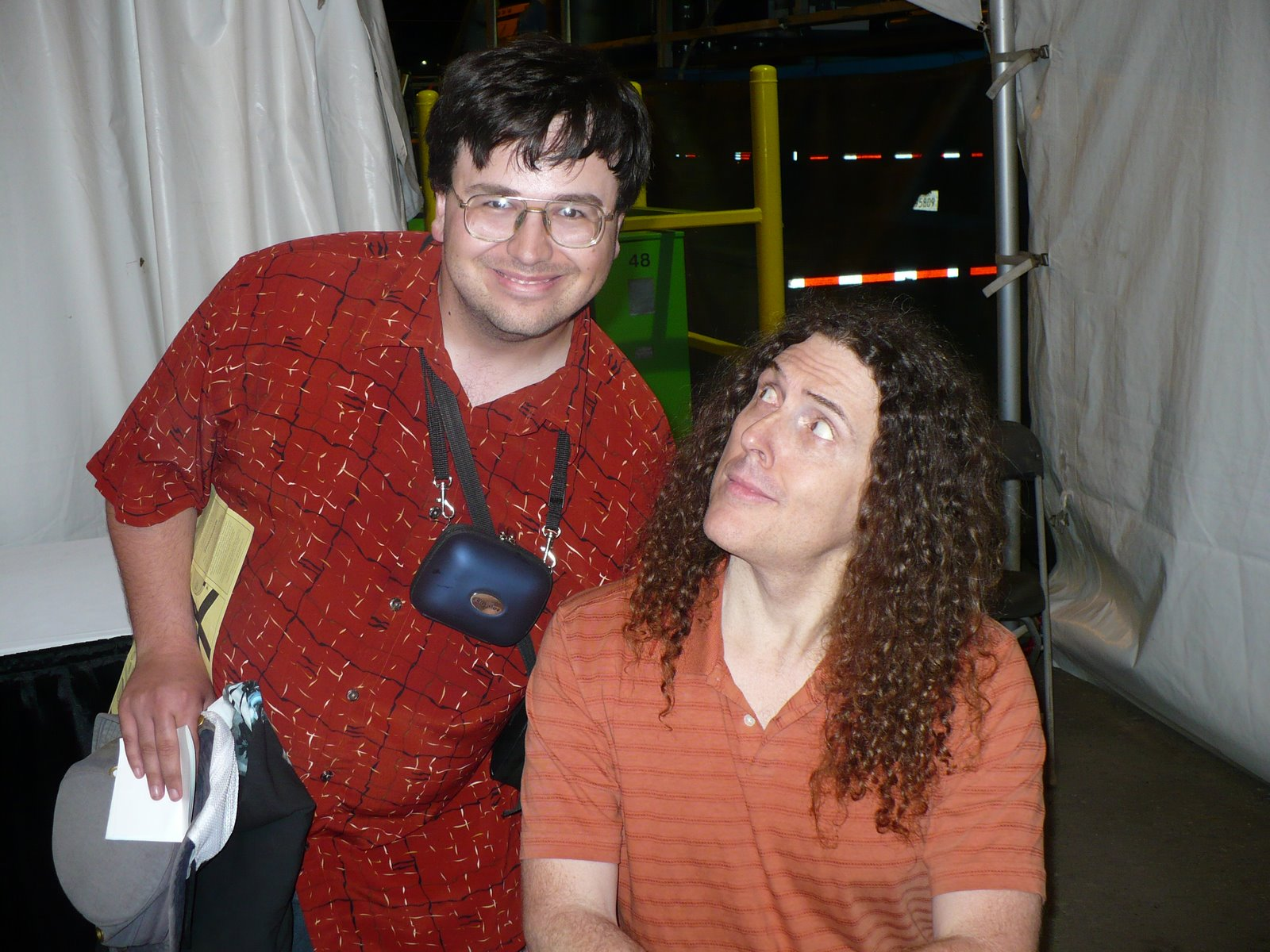 "That magical day when I met ""Weird Al"" Yankovic at the Capital X in 2007."