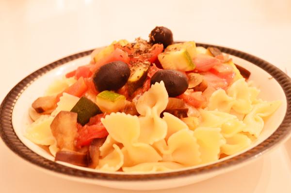 Mediterranean Pasta with Ratatouille