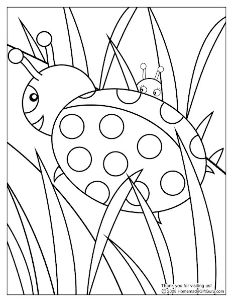 Easy Ladybug Coloring Pages