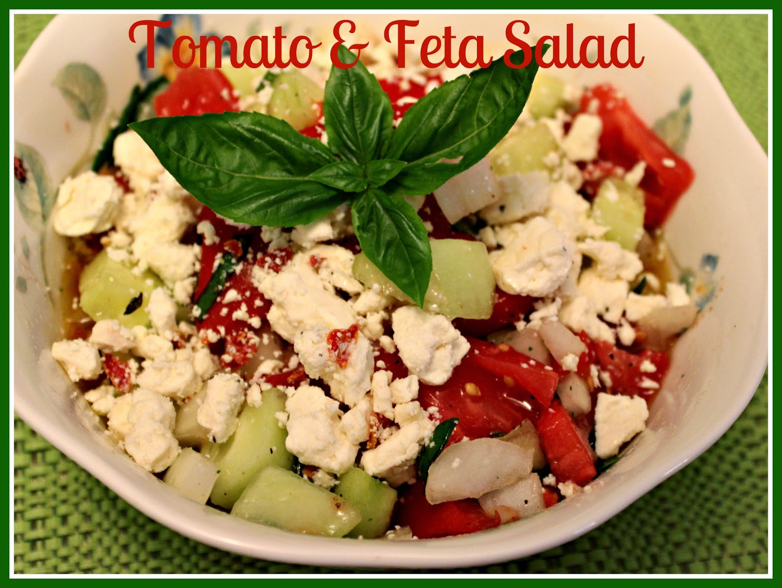 this tomato and feta salad is a simple salad with just a few ...