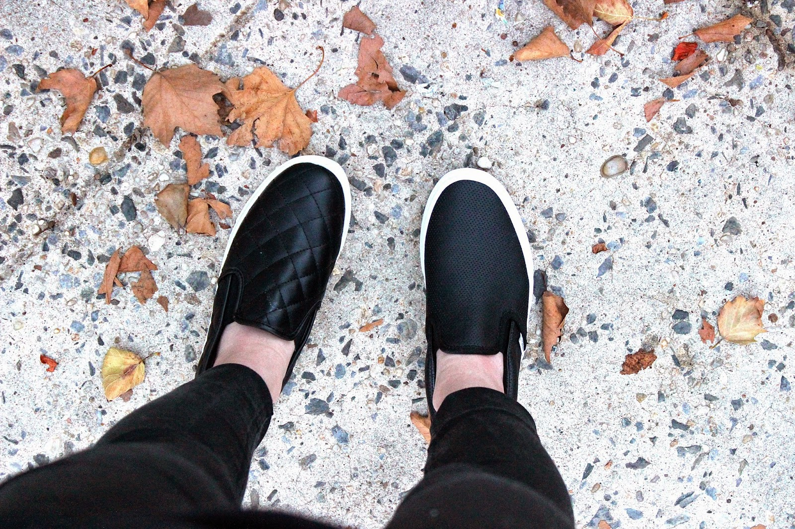 REVIEW : Vans Perforated Leather Slip Ons VS Target Quilted Slip Ons
