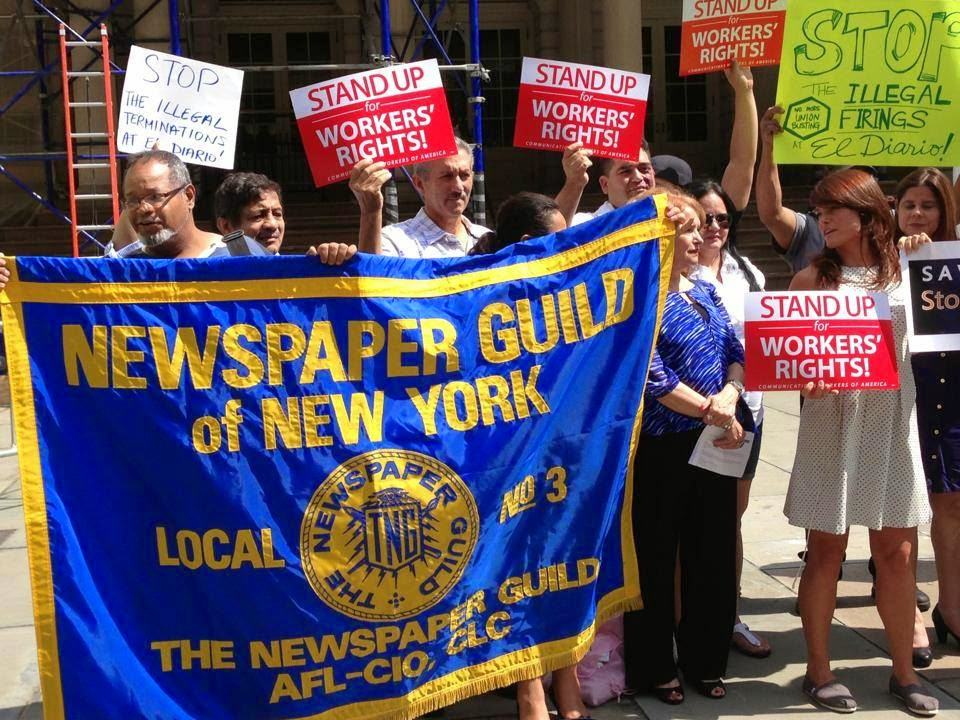 NY Guild rally for El Diario workers