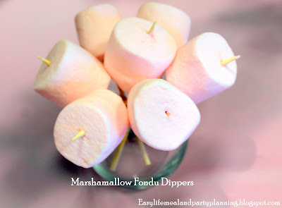 Pretty Marshmallows for Birthday Party - Easy Life Meal & Party Planning