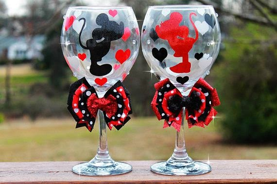 Minnie Mouse Mickey Mouse Glitter Bridesmaid Wedding Bridal Shower ...