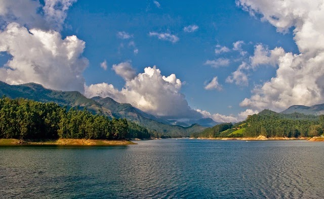 Mattupetty dam and reservoir in Munnar