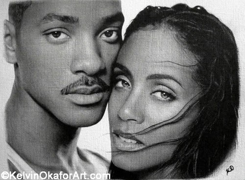 08-Will-and-Jada-Smith-Kelvin-Okafor-Celebrity-Portrait-Drawings-Full-of-Emotions-www-designstack-co