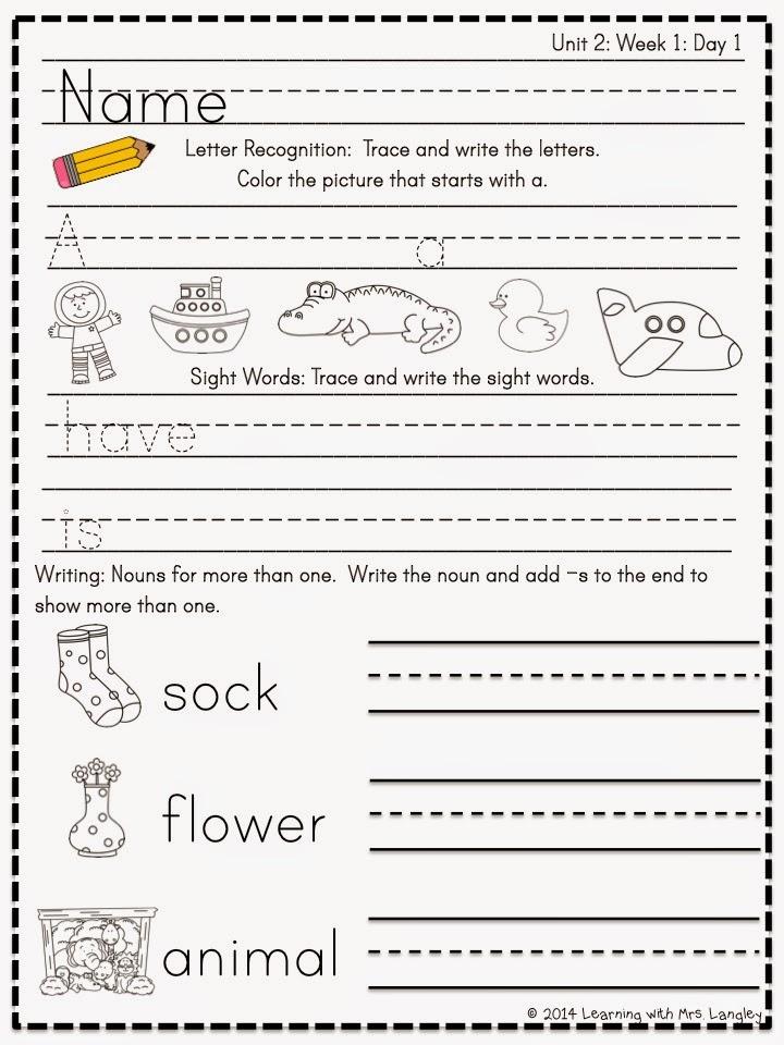 http://www.teacherspayteachers.com/Product/Kindergarten-Morning-Word-Work-Reading-Street-Unit-2-1281302