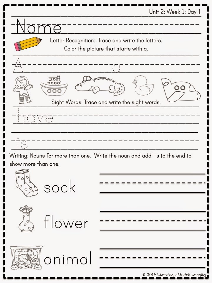 http://www.teacherspayteachers.com/Product/Kindergarten-Morning-Word-Work-Reading-Street-Unit-2-1281302