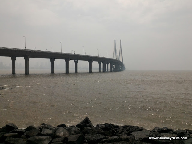 Bandra-Worli Sea Link road view Bandra fort