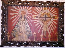 Pintura en tela Señora y Señor del Milagro de Salta