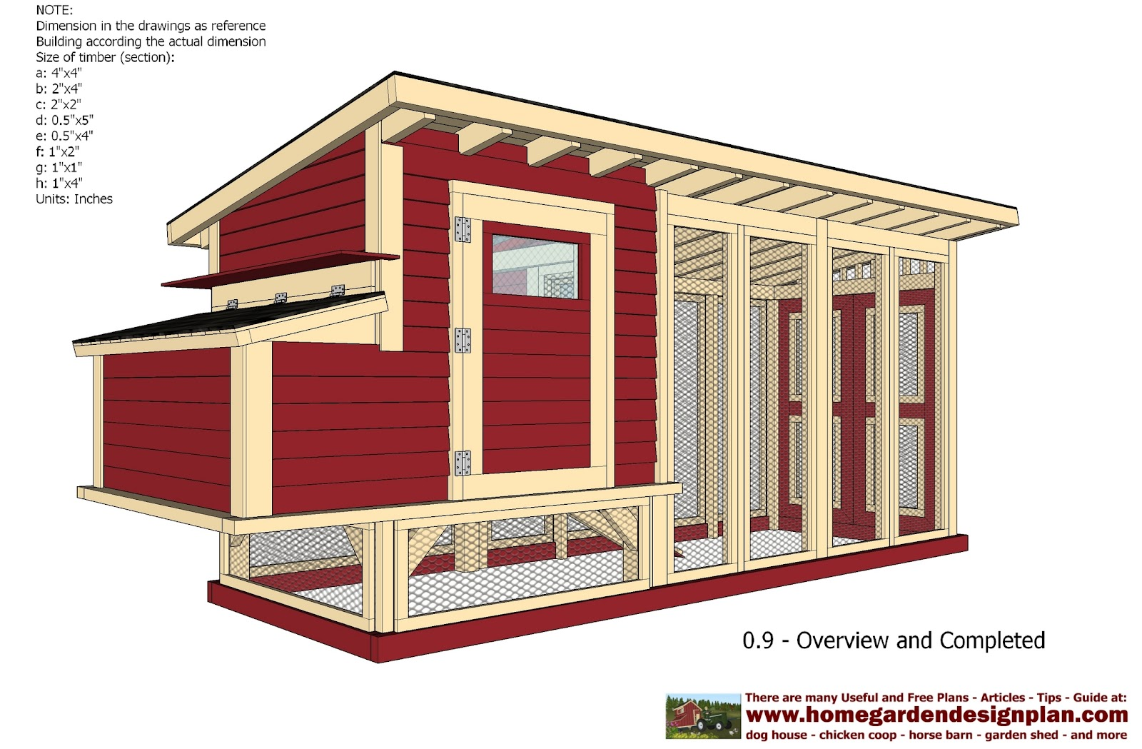 Home garden plans m101 chicken coop plans construction for Plans chicken coop