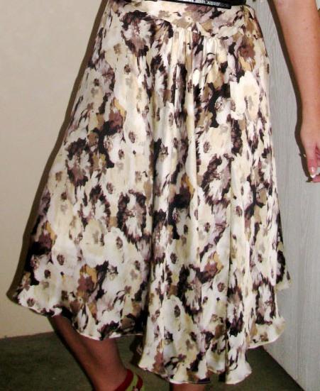 1930s style asymmetrical dress