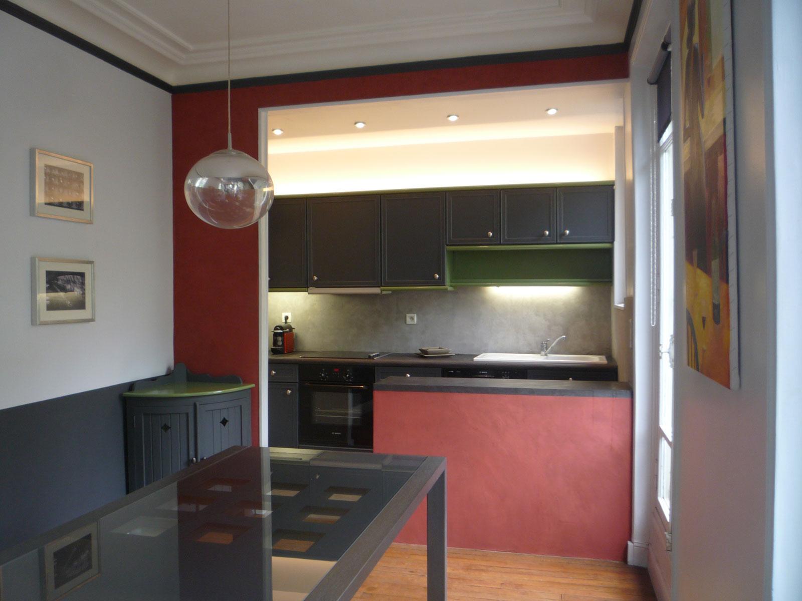 faire chanter les murs cuisine et bar r alis s en b ton cir en collaboration avec murs et. Black Bedroom Furniture Sets. Home Design Ideas