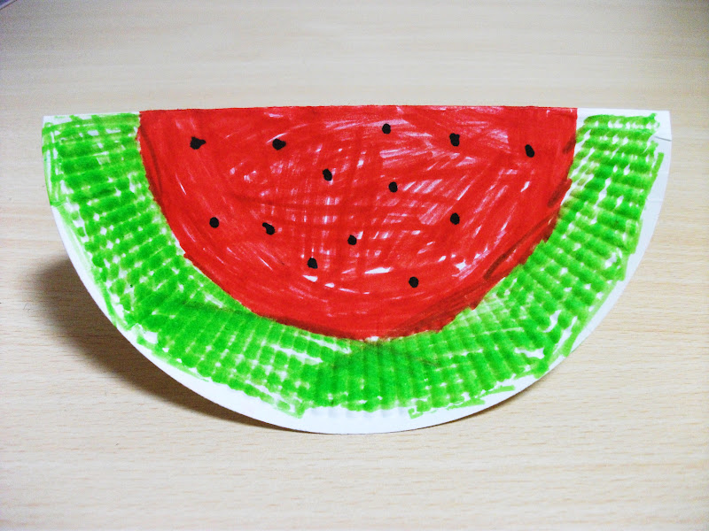 Paper Plate Craft Ideas For Kids Part - 26: This Is A Very Easy Summer Watermelon Craft Made From A Paper Plate. This  Is Easy Enough For The Youngest Students.