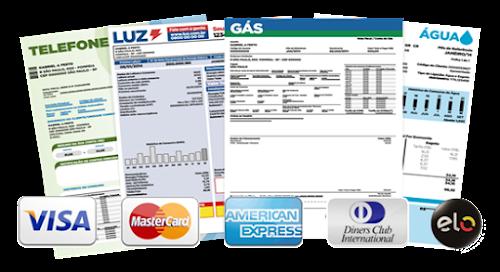 Como pagar contas de água, luz e telefone com cartão de crédito e sem taxas adicionais.