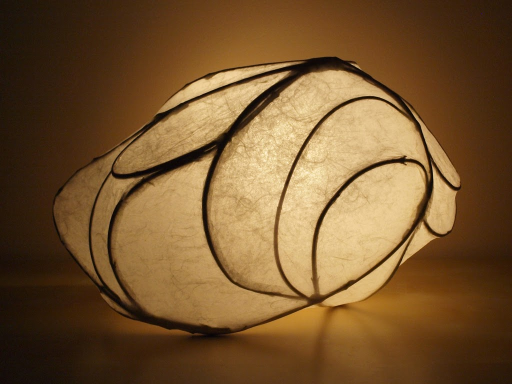 Echo - handmade light sculpture art lamp by Simcoe artist Joanne Rich