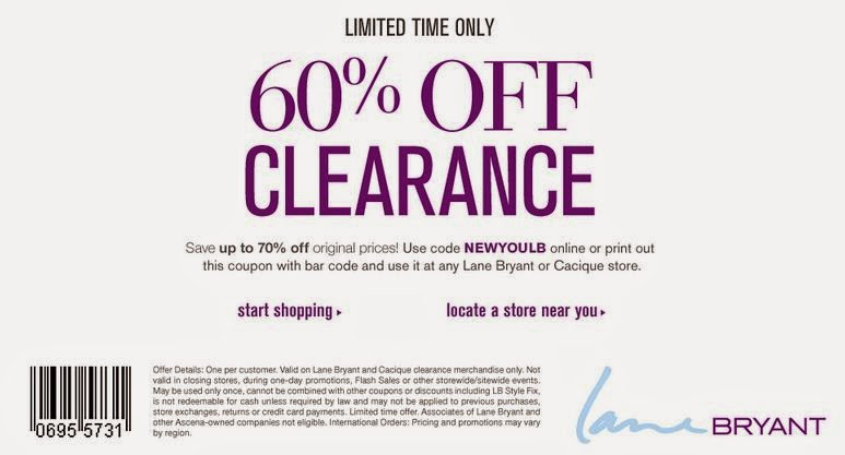 Lane bryant store coupon codes