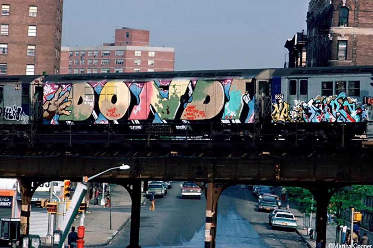 Beautiful  of the trains and New York City and Chalfant was creating images that tightly focused on the art the duo us work paired well when seen together