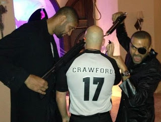 Duncan and Parker Point Guns at Fake NBA Referee in Leaked Halloween Photo