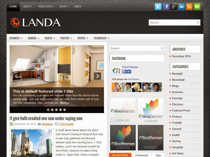 Landa - Free Wordpress Theme