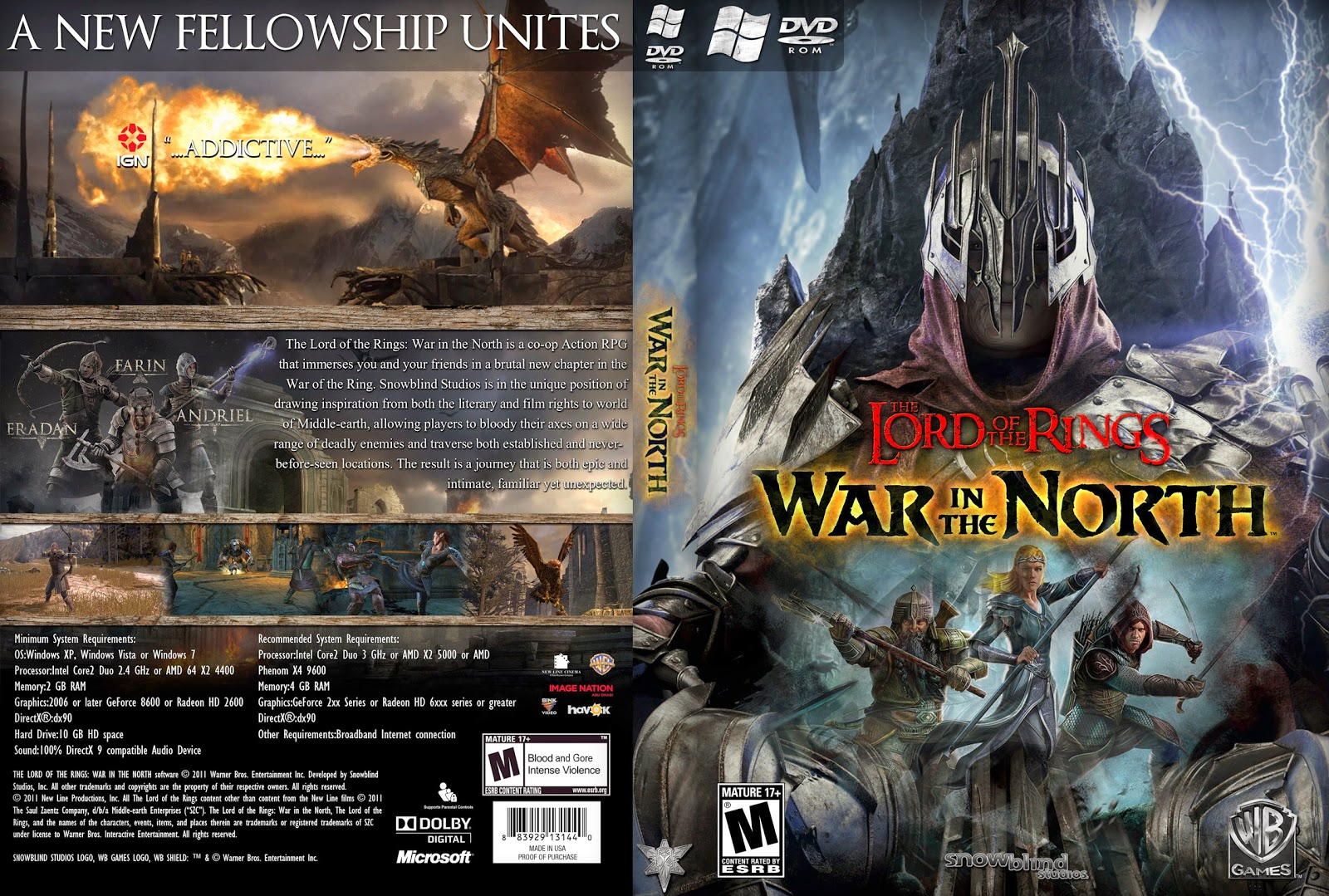 Capa The Lord Of The Rings War In The North PC