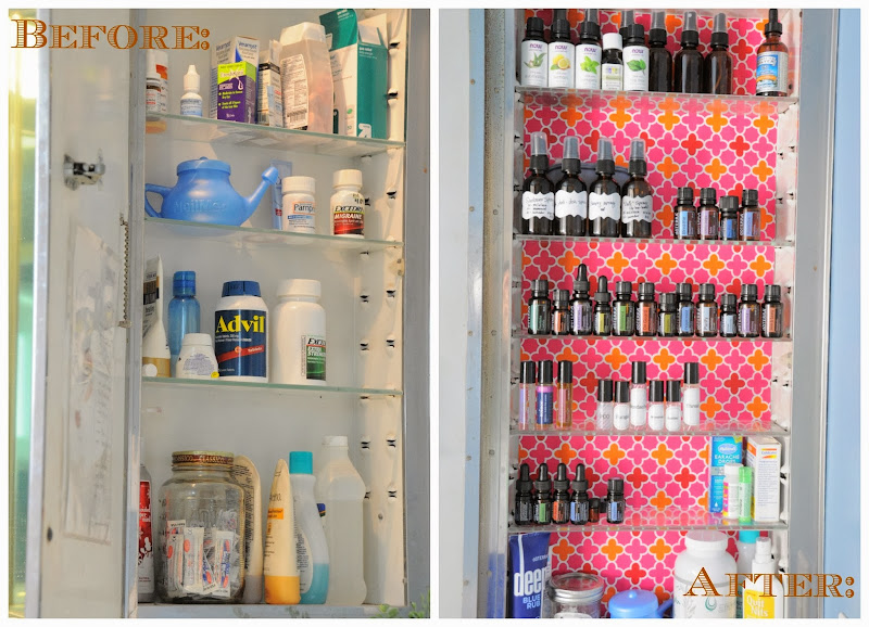 Days of Spontaneous Organizing - Day #15: Bathroom {Medicine cabinet title=